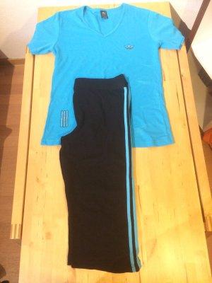 Sporthose , Sport-Thirt , blau , Größe XXXL