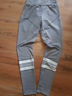 Pantalon de sport blanc-noir