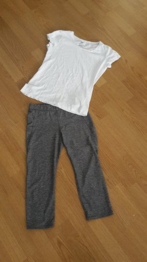 Sporthose Tights + T-Shirt 3/4 Jogging Sportkombi