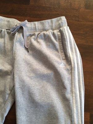 Adidas pantalonera gris claro-blanco Algodón