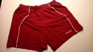 Kempa Short de sport blanc-rouge carmin