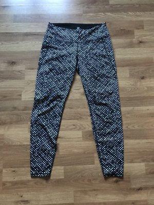 H&M Pantalon de sport noir-blanc