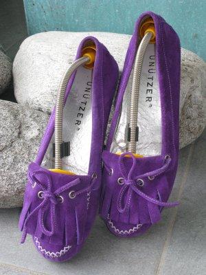 Unützer Mocasines violeta oscuro Gamuza