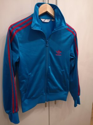 Adidas Giacca sport rosso lampone-blu neon