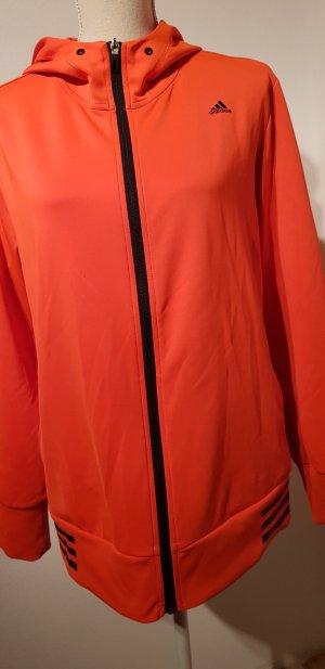 Adidas Giacca sport nero-arancio neon