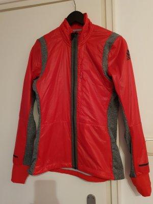 Adidas Giacca sport grigio-rosso