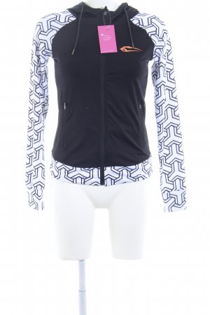 Sports Jacket black-white abstract pattern athletic style