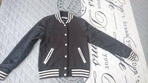 Adidas College jack zwart-wit