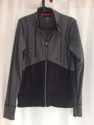 Sportjacke von H&M, schwarz-grau
