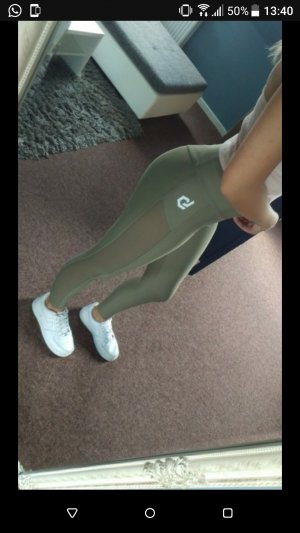 Leggings gris verdoso-caqui