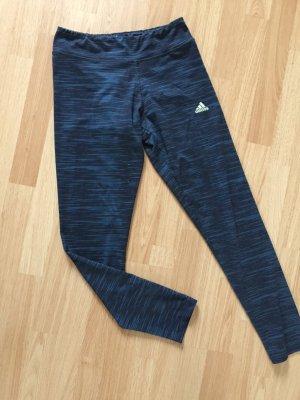 Adidas Pantalon de sport noir-bleu pétrole polyester