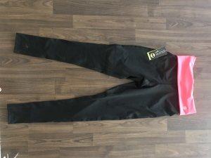Pure Collection Leggings negro-rosa neón
