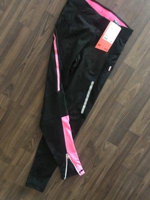 H&M Leggings negro-rosa
