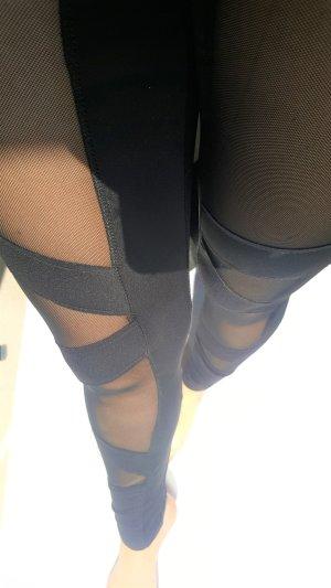 Pantalone da ginnastica nero Poliestere