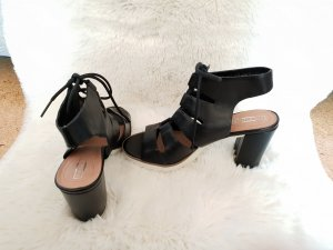 5th Avenue Plateauzool sandalen wit-zwart