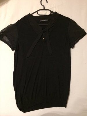 esprit collection Blusa collo a cravatta nero