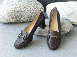Geox Loafers zwart bruin Leer