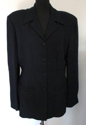Alysi Blazer long noir tissu mixte