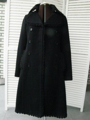 Dolce & Gabbana Heavy Pea Coat black new wool