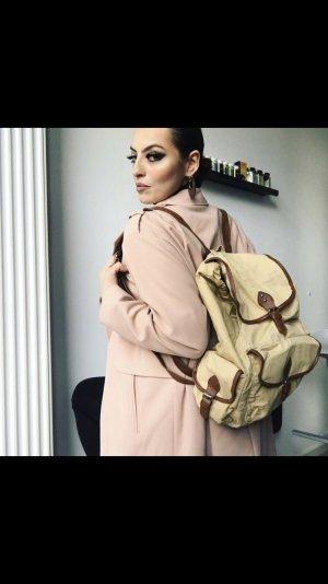 sportlich schicker rucksack in beige braun