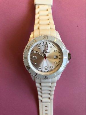 Orologio analogico bianco-argento
