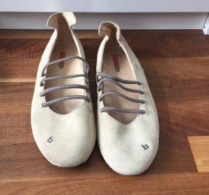 Blend Ballerina licht beige-grijs-bruin Leer