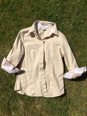 Sportliche, beigefarbene Bluse, Gr 34