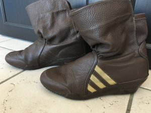 Adidas Boots dark brown-gold-colored
