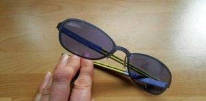 Adidas Ovale zonnebril geel-staalblauw