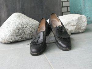 H&M Garden Collection Pantoffels zwart Leer