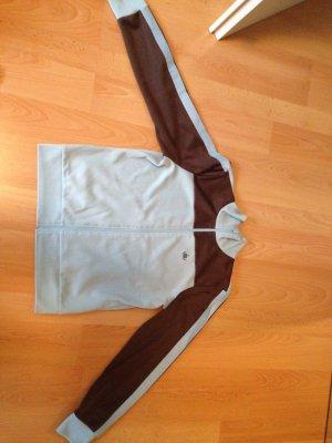 Veste de sport brun foncé-bleu azur