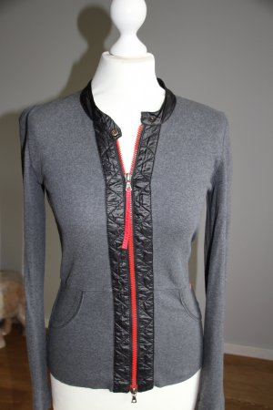 Marc Cain Sports Jacket grey-red cotton