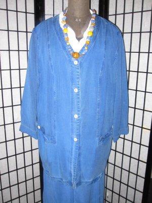 Giacca denim blu Fibra tessile