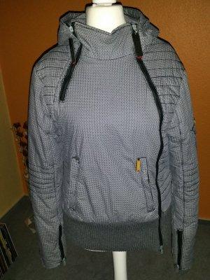 sportliche Khujo Winterjacke xl, grau-schwarz