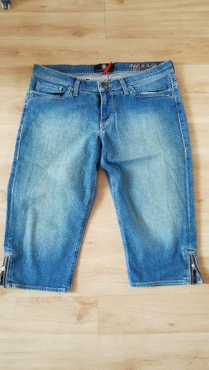 Bogner Jeans Pantalone cinque tasche blu acciaio Cotone