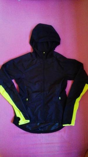 H&M Giacca a vento nero-giallo neon