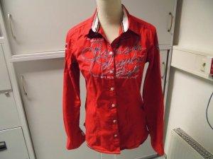 Sportliche rote Bluse