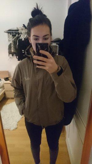 sportliche, sandfarbene Regen-/Funktionsjacke