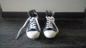 Basket montante bleu foncé-blanc