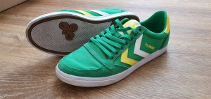 Hummel Lace-Up Sneaker green-yellow synthetic fibre