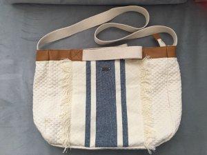 Roxy Shoulder Bag blue-natural white cotton