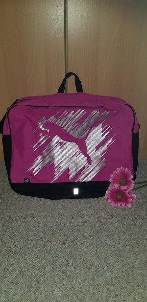 Puma Bolsa de gimnasio negro-rosa