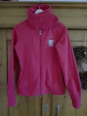Sportliche warme Fleece-Jacke in Pink