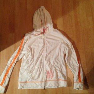 Tchibo / TCM Veste chemise blanc-orange