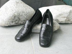 Maripé Pantoffels zwart Leer