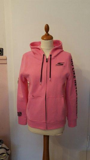 sportlicher Hoodie in rosa mit Kapuze