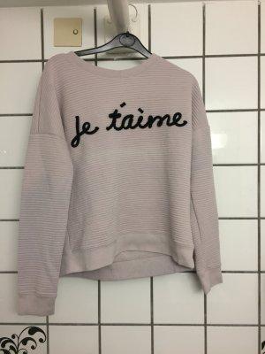 Sportlicher Pullover mit französischem Spruch