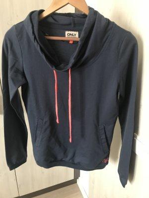 Sportlicher Pullover mit Wasserfallkragen