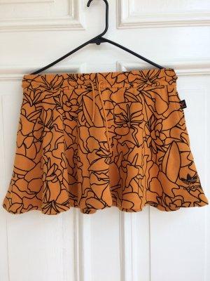 Adidas Falda de talle alto naranja-negro