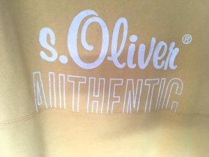 sportlicher sommerlicher Pullover in senfgelb von s.Oliver Authentic, Gr. 38
